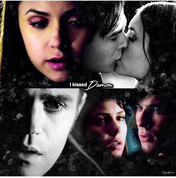 "#TVD The Vampire Diaries  Elena & Stefan/ Elena & Damon  ""I kissed Damon"""