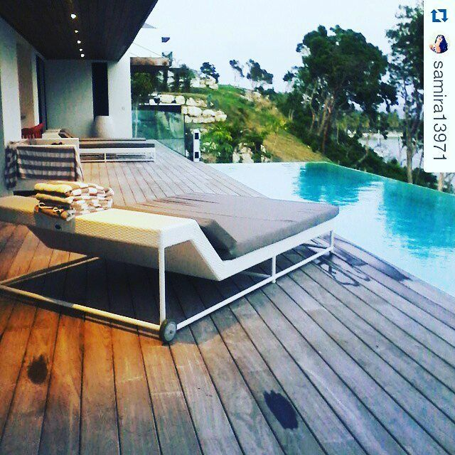 Another #custom #sunbed only for La Toubana Hotel & Spa Guadelope #besthotel #outdoorfurniture #poolside #luxuryhotel