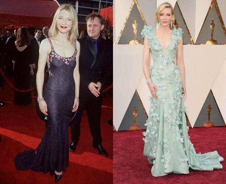 Celebrity na Oscarech tehdy a nyní - Cate Blanchett