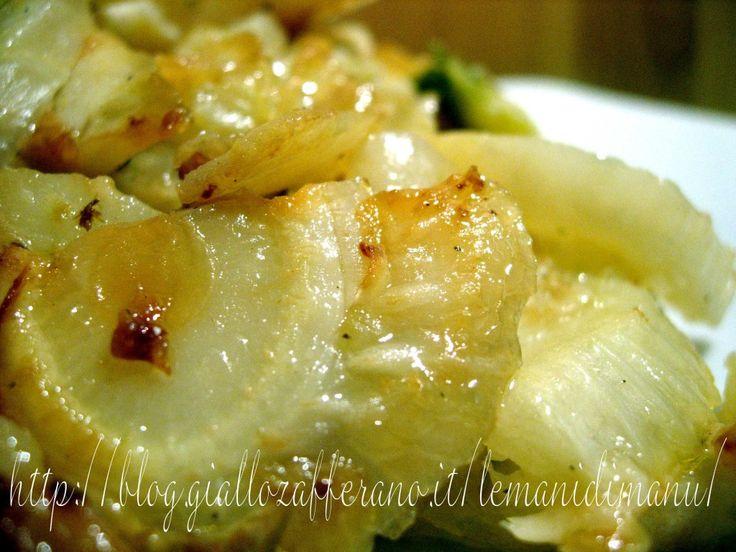 Finocchi al parmigiano in padella | Ricetta contorno | Le Mani Di Manu