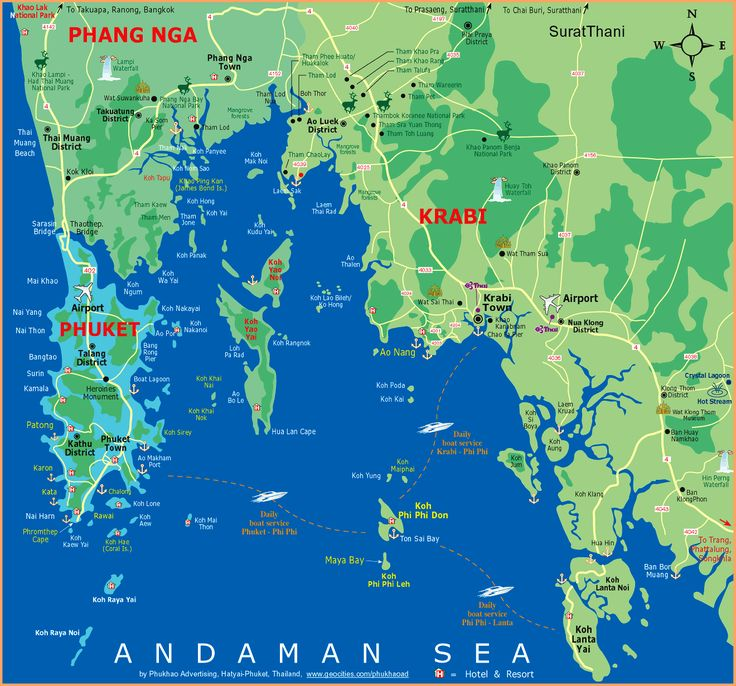 Map of Phuket and surrounding area | The places I'll go ...