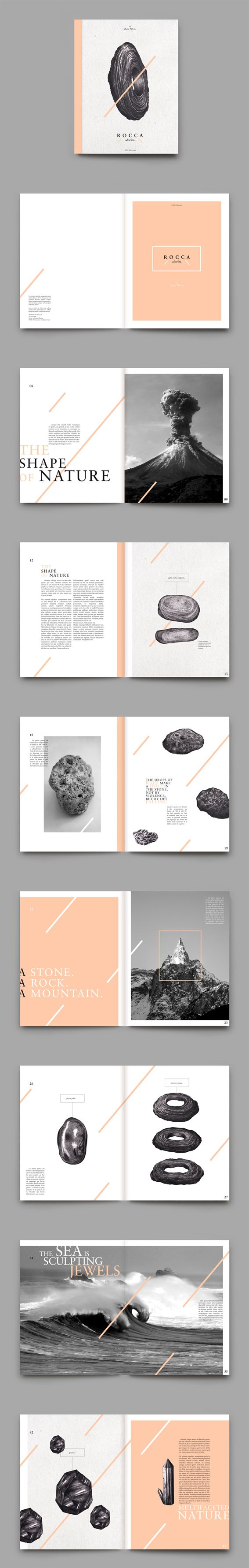R O C C A stories / magazine layout design  Bárbaro, Á., n.d., 'Diseño editorial', Pinterest, viewed 16 August 2015, <https://www.pinterest.com/alvarobarbaro/dise%C3%B1o-editorial/>
