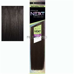 "Premium Next Natural Perm Yaki 10"" - Color 1B - Human Weaving"