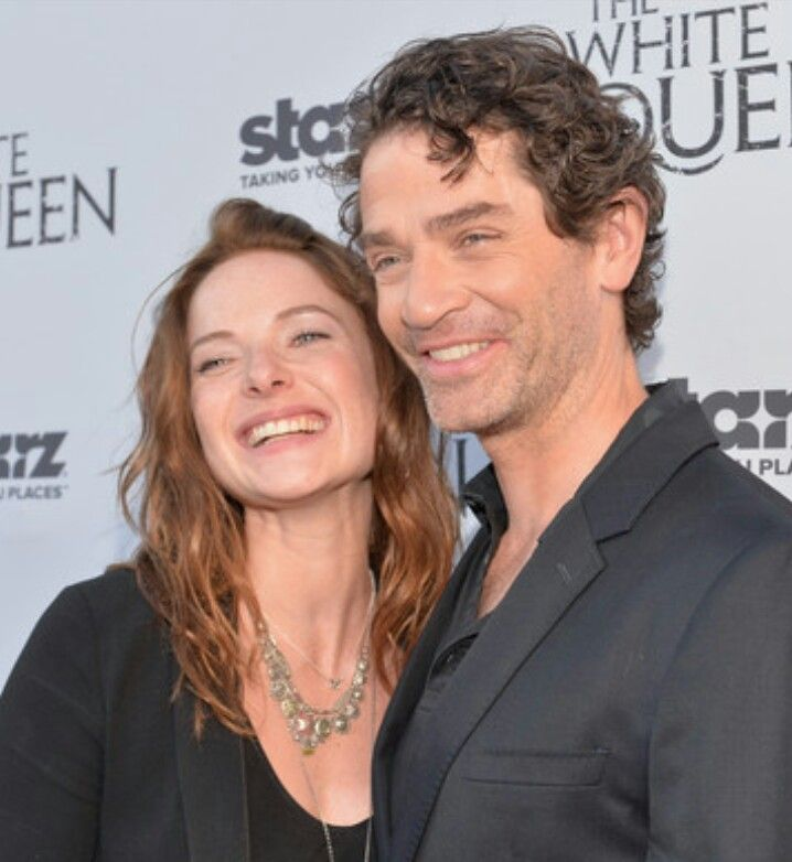 Rebecca Ferguson and James Frain. Lol, Elizabeth? We don't like Warwick, remember? We cursed him. :D