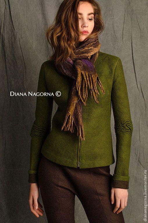 """Куртка из мериносовой шерсти """"Kelly green"""" - Диана Нагорная (diananagorna) - Ярмарка Мастеров"""
