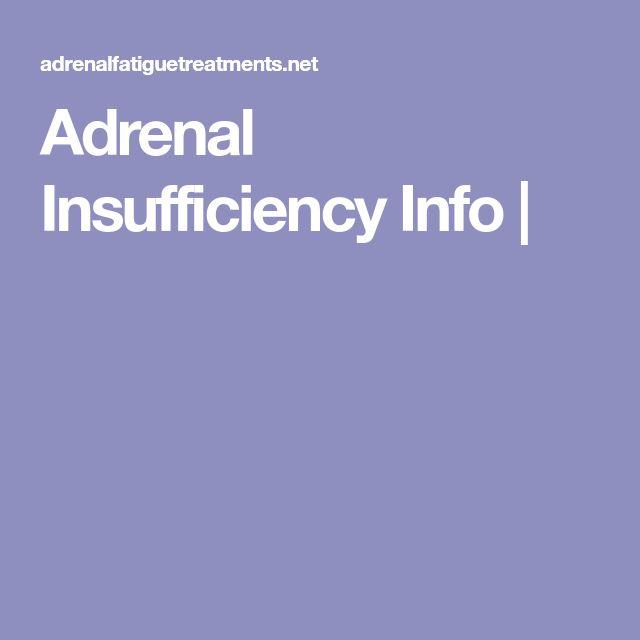 Adrenal Insufficiency Info |