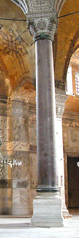 A column of Imperial porphyry in Hagia Sophia