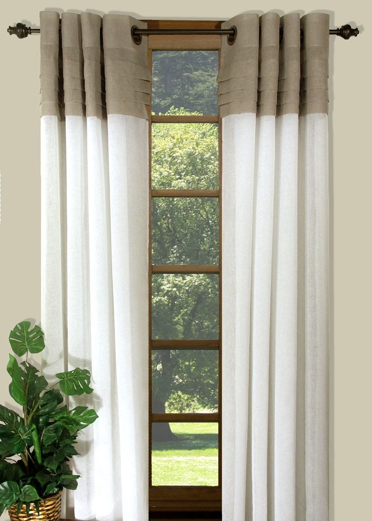 Curtain & Bath Outlet - Geneva Two Tone Grommet Curtain Panel