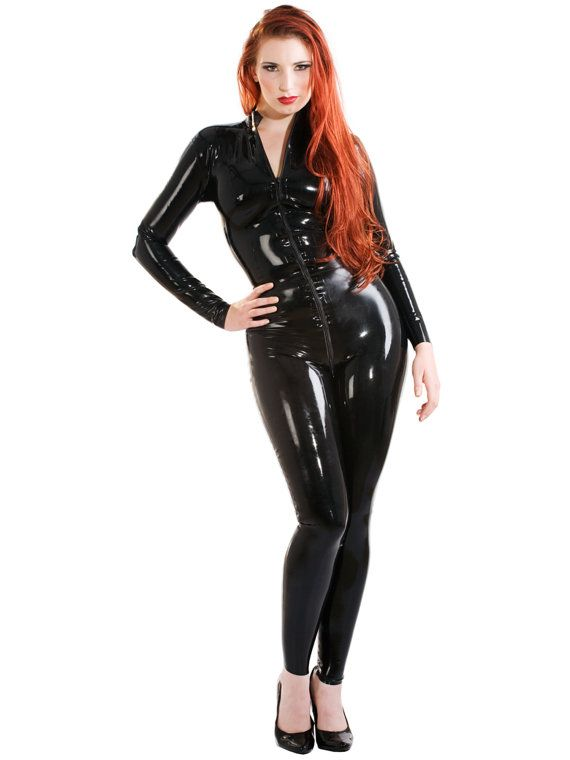 Latex Rubber Front Zip Voluptease Catsuit by SkinTwoLatex on Etsy