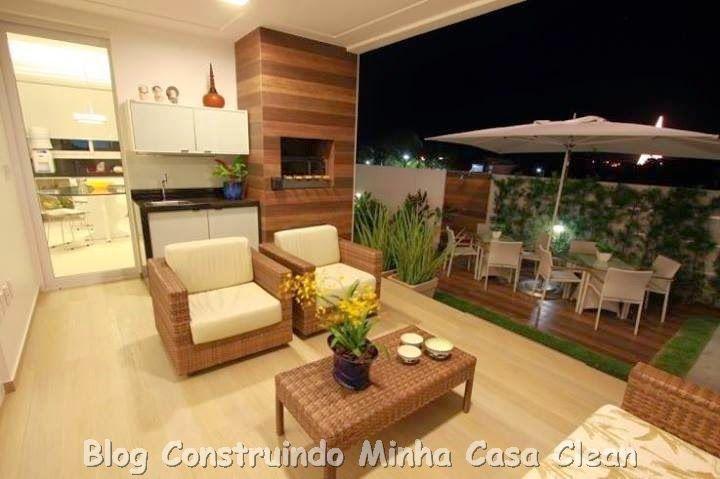 Construindo Minha Casa Clean: Decoração de Varandas e Quintais!!!