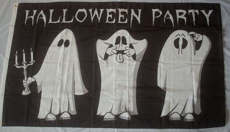 Halloween Party 6 Geist Geister Ghost Fahne Flagge 90 x 150 cm