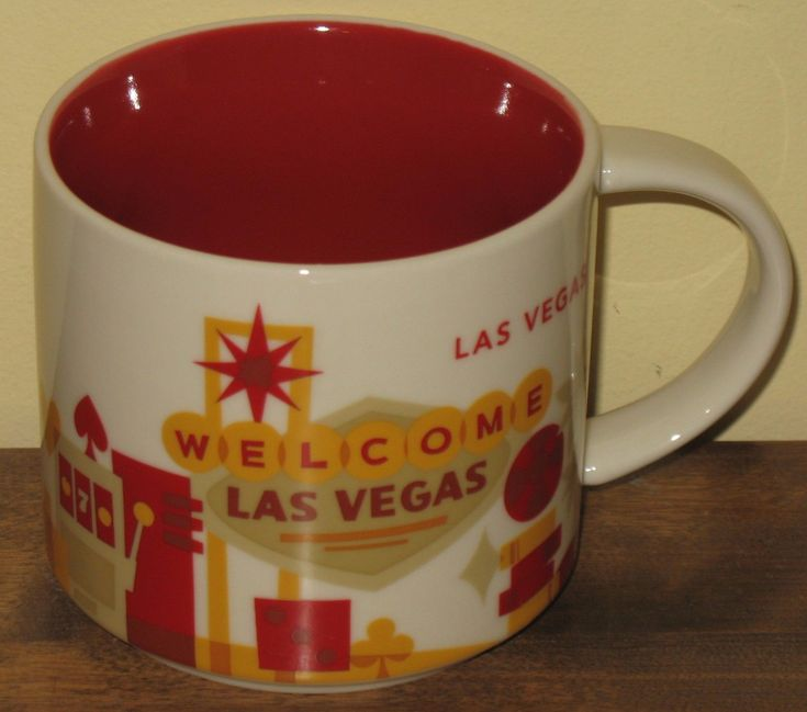 Starbucks Las Vegas Coffee Mug Cup You Are Here Collection 2012 The Strip & Mtns | eBay $9.95 -- Mugs make great travel-themed gift as would this one from #LasVegas! #lasvegas #starbucks