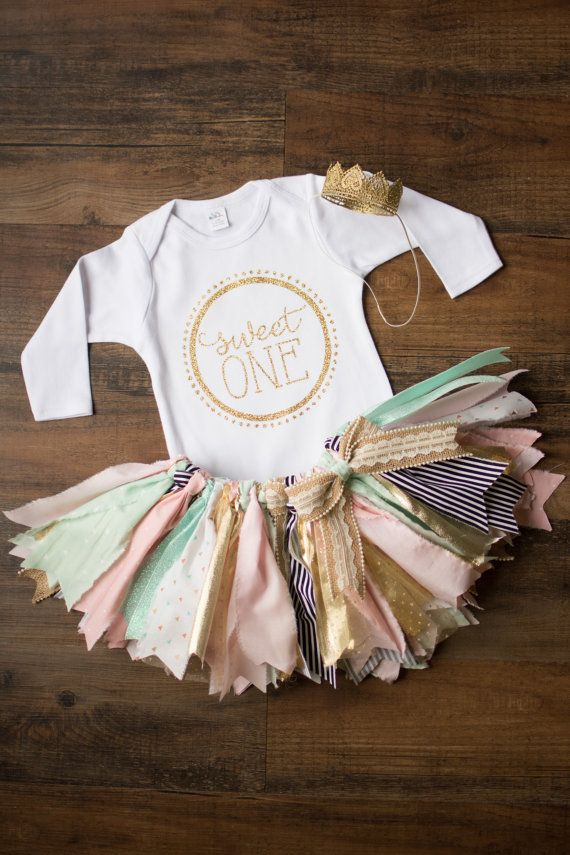 New for 2016, the Landry set. Onesie, Tutu, and optional crown! Can be customized with age ONE, TWO, THREE, FOUR, or your littles monogram. This