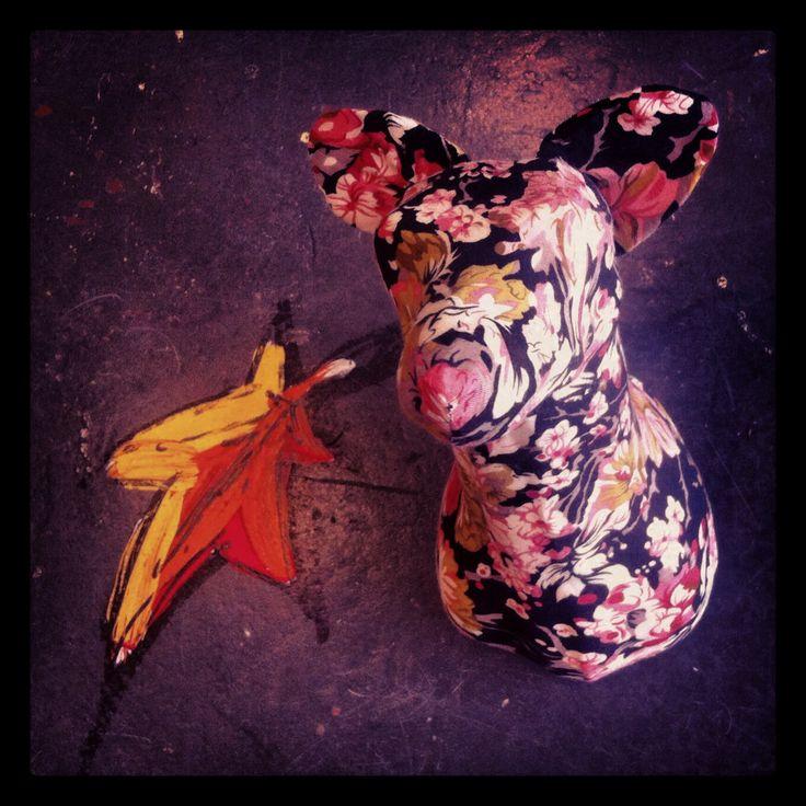 'Floral Fox' by MKD - http://mkd.bigcartel.com/ #floral #fabric #taxidermy #fauxtaxidermy #mkd #theworkofmkd