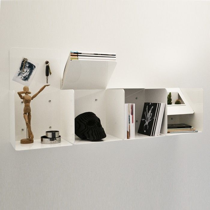 Bookcase Kit CB01 Metal Black by Opposite