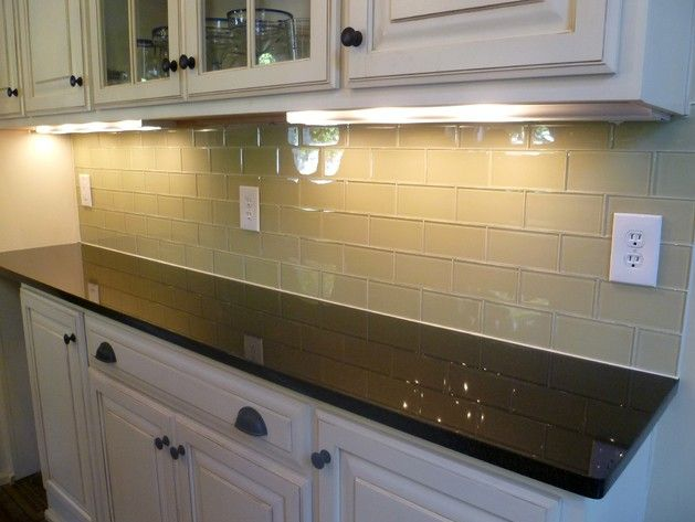 recycled glass tiles kitchen backsplash house ideas