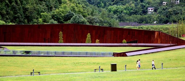 In commemoration of #China greatest #earthquake #architect #caiyongjie designed #wenchuanearthquakememorialmuseum  #landscapearchitecture #architecture #greenarchitecture #archilovers #memorial #museum #sustainability #greenroof #design #minimalism #climatemessages #sichuan