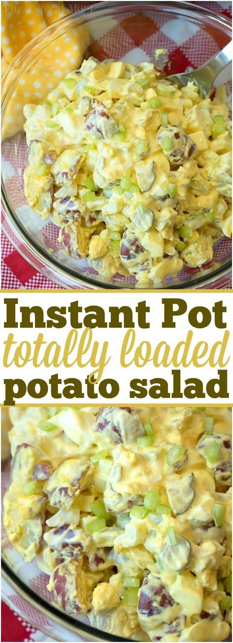 This is the most amazing Instant Pot potato salad you'll ever make in just 5 minutes! Loaded with eggs and pickles it's the perfect side dish to any meal. ad #instantpot #pressurecooker #potatosalad #salad #potato #sidedish #easy via @thetypicalmom