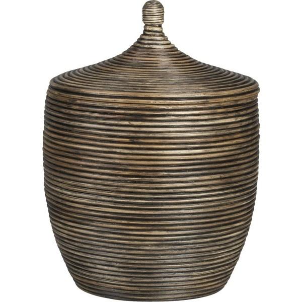 Kez Small Lidded Basket (50) liked on Polyvore Basket