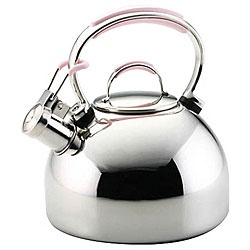 @Overstock - KitchenAid Pink Tea Kettle - This 2-quart Tea Kettle features a comfortable, easy-to-grip handleKettle whistles when water comes to a boil and has a removable lid Support 'Cook For The Cure' with this teakettle presented by KitchenAid    http://www.overstock.com/Home-Garden/KitchenAid-Pink-Tea-Kettle/4655289/product.html?CID=214117  $41.99