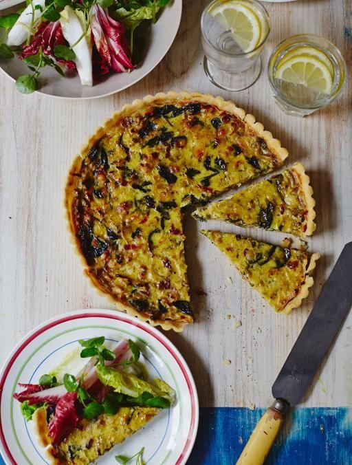 QUICHE DE ESPINACAS Y PUERROS (Gluten-free quiche) #RecetasSinGluten #JamieOliver