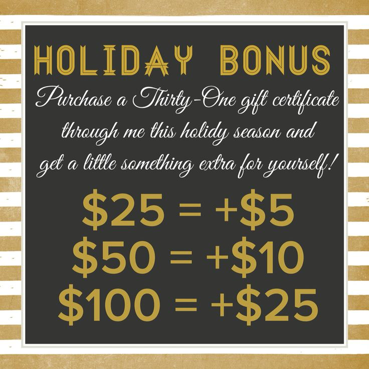 Thirty-One Gift Certificate Bonus!!   www.mythirtyone.com/kalbers