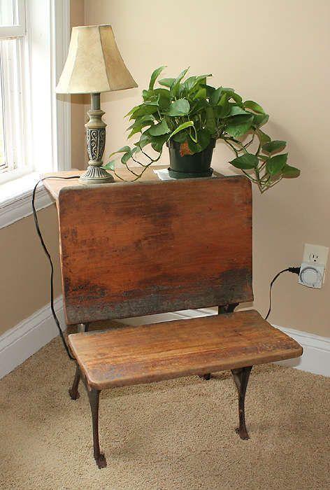 Antique Wood Child's School Desk   Antiques, Vintage & Contemporary Mix Estate Sale Starts On 10/12/2012