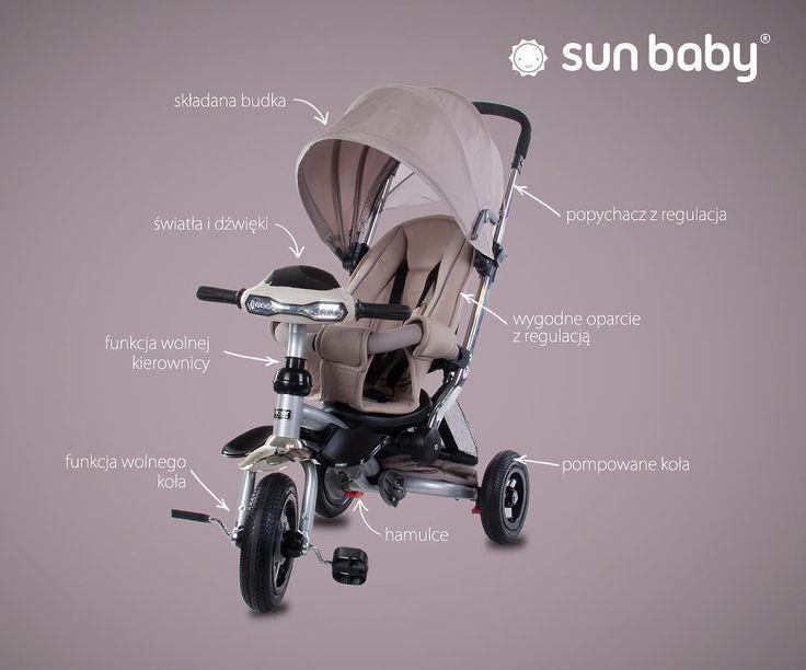 """Polubienia: 24, komentarze: 9 – Sun Baby (@sun_baby_pl) na Instagramie: """"Trójkołowiec z rodziny #littletiger model T350 Posiada funkcję wolnego koła i wolnej kierownicy.…"""""""