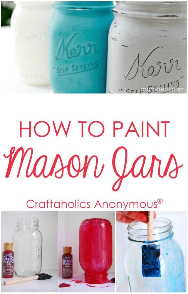 How to paint Mason jars