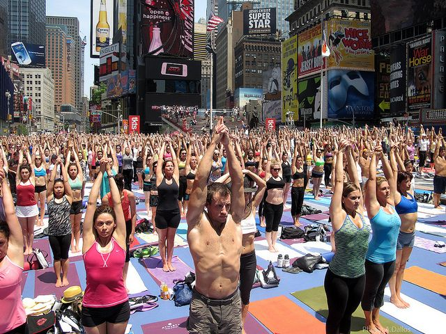 Mantra-Hatton – Times Square Taken Over by Yoga Fans    In the middle of one of the world's most commercial and chaotic places-Times Square-yoga enthusiasts from around the world sought out stillness, harmony, and transcendence. Happy Summer Solstice!