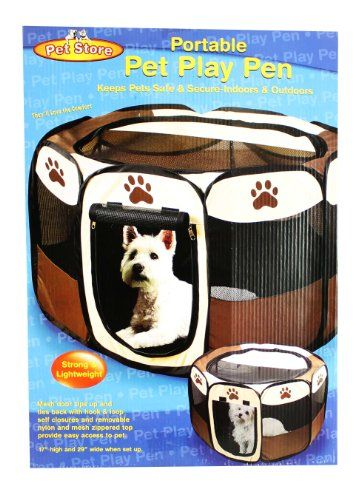 Portable Doggie Play Pen, Small Size JSNY http://smile.amazon.com/dp/B007XXZ69C/ref=cm_sw_r_pi_dp_oGIgvb005C9KD