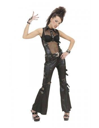 Pantalon déguisement rock simili cuir Déguisements Rock - Hard Rock   Deguisement-magic Rock - Hard Rock