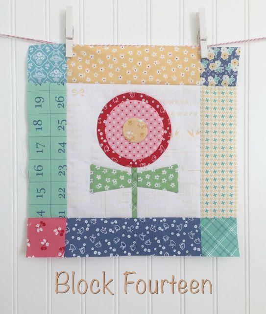 Bloom Sew Along Block #14 TUTORIAL featuring Lori Holt's Calico Days fabric line #iloverileyblake #fabricismyfun