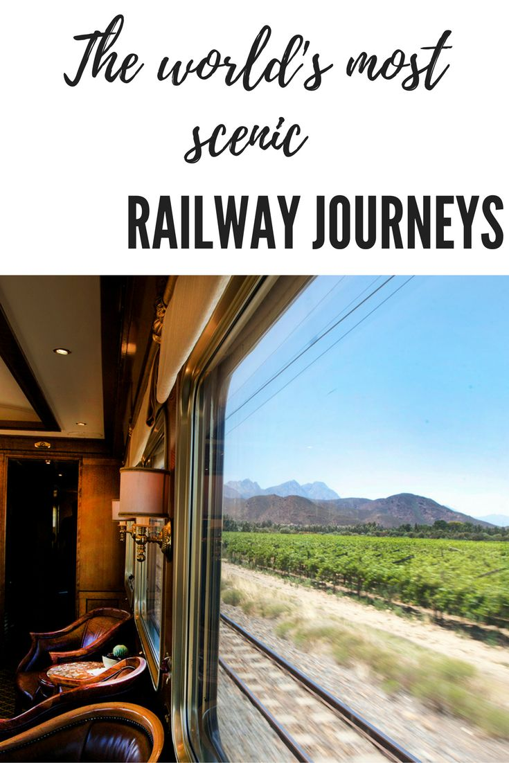 Taking the train while travelling or on holiday can be a great way to experience the countryside of a new destination. Take a look at these scenic railway journeys from around the world in Africa, Australia, Canada, America, Europe and more!