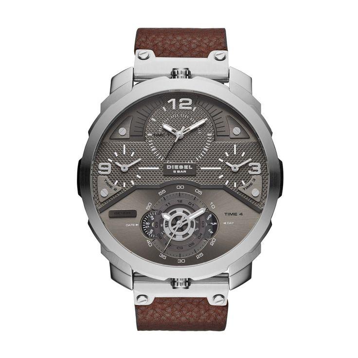 Diesel Men's DZ7360 Machinus Analog Display Watch With Grey Dial