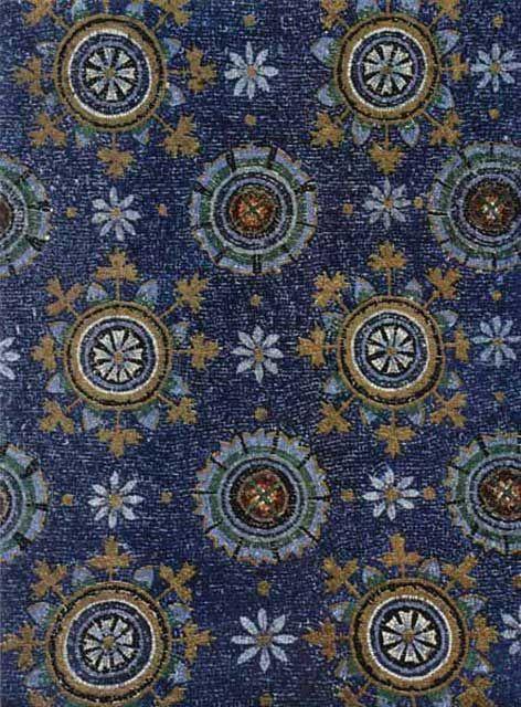 Volta a mosaico del Mausoleo di Galla Placidia, prima metà V sec., Ravenna, Italy.