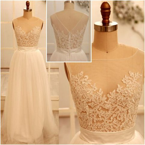 High Quality Appliques Prom Dresses, White Prom Dresses 2016, Tulle Prom Dresses, Long Prom Dresses, Affordable Prom Dresses, Dresses For Prom