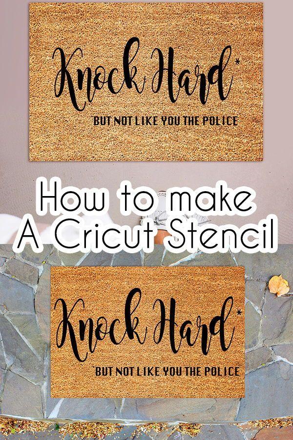 How To Make A Custom Outdoor Mats Using Your Cricut Cricut Cricut Stencils Stencil Vinyl