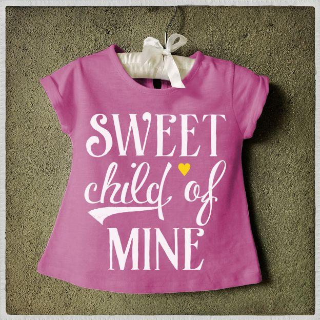 Camiseta infantil feminina Sweet Child of mine Kids T-shirt Graphic Tee