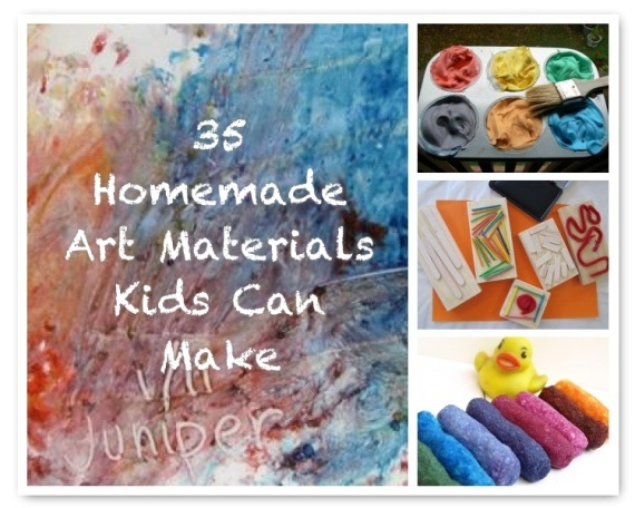 35 Homemade Art Materials Kids Can Help Make :: Do you ever make your own art materials? If you do, is it because it's economical, fun, or eco-friendly (or all three!)?