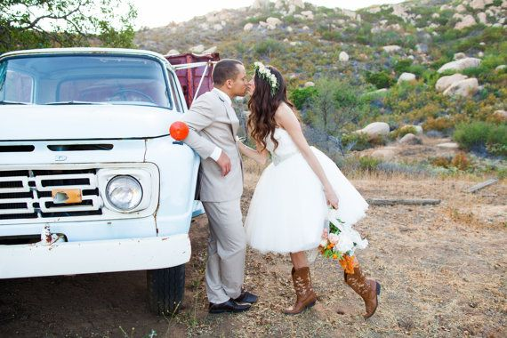 Ella – Tulle Wedding Dress, Lace Wedding Dress, Sweetheart Neckline, Strapless, Short Wedding Dress, Organza an Lace , Reception Dress