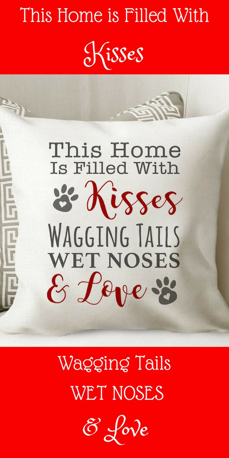 Dog Pillow Cover // Dog House Throw Pillow // Dog Love Home Decor Gift #affiliate