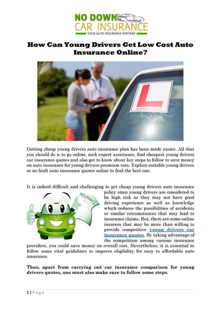 45 Lovely Young Drivers Car Insurance Quotes in 2020