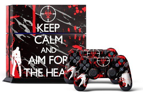 PS4 Console Designer Skin for Sony PlayStation 4 System plus Two(2) Decals for: PS4 Dualshock Controller Infected - http://www.rekomande.com/ps4-console-designer-skin-for-sony-playstation-4-system-plus-two2-decals-for-ps4-dualshock-controller-infected/