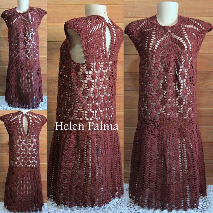 Vestido em crochet encomendas hcpalma@gmail.com