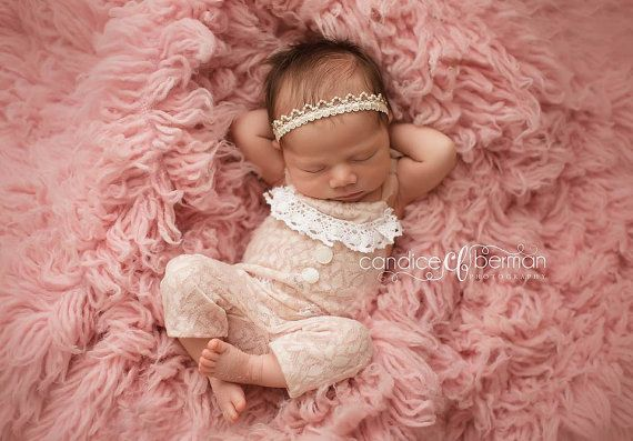 Newborn Photo Props Newborn Romper Baby by LorasBabyBoutique