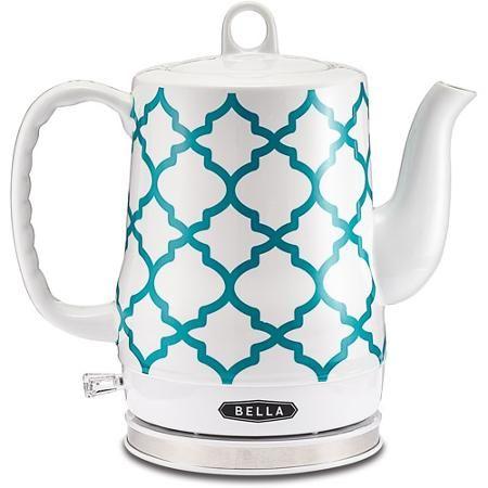 Super duper want. Bella 1.2-liter Electric Ceramic Kettle, Spanish Tile