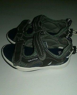 Nautica toddler boys velcro sandals size 9