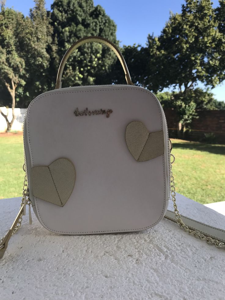 White smooth leather crossbody