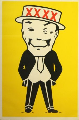 XXXX Beer, 1960s - original vintage poster listed on AntikBar.co.uk